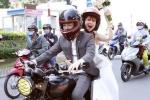 Độc - lạ như đám cưới Khởi My và Kelvin Khánh: Rước dâu bằng mô tô