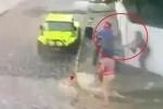 Clip: Thanh niên cầm súng đi cướp bị phụ nữ vung chổi đánh tới tấp