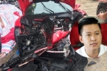 Siêu xe 14 tỷ đồng của ca sĩ Tuấn Hưng gặp tai nạn nghiêm trọng, đầu xe vỡ nát