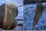 Clip: Mỳ nóng đóng băng đông cứng ở nơi lạnh nhất Trung Quốc