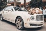 Màn rước dâu bằng xe siêu sang Bentley Mulsanne của hot girl Hải Phòng
