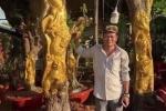 Kỳ lạ thú chơi dát vàng lên thân cây sống của nông dân miền Tây
