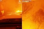 Clip: Tài xế liều mạng lái ô tô lao qua biển lửa, chạy khỏi đám cháy rừng