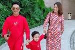 Khánh Thi khoe khoe bụng bầu 5 tháng khi du xuân cùng chồng