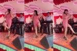Clip: Nữ khách vừa nhảy lò cò, vừa hát cực sung trong đám cưới gây 'bão' mạng