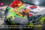 'Siêu bò' Lamborghini Aventador đổi màu sơn ủng hộ tuyển Việt Nam