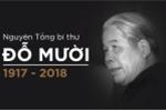 VIDEO Trực tiếp: Lễ viếng nguyên Tổng Bí thư Đỗ Mười
