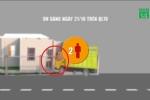 Video mô phỏng vụ xe tải húc đổ cổng, 2 vợ chồng đứng trong sân chết thương tâm