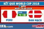 Video kết quả Peru vs Đan Mạch, bảng C bóng đá World Cup 2018