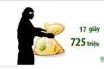 Cướp ngân hàng BIDV ở Huế: Dùng súng giả cướp 725 triệu đồng trong 17 giây