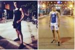 Chàng trai tăng 14 cm chiều cao nhờ một năm tập gym