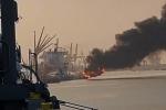 Tàu chở dầu 2.000 tấn phát nổ, bốc cháy dữ dội ở Hải Phòng