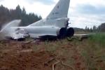 Video: Máy bay ném bom Nga lao khỏi đường băng, vỡ nát 2 cánh