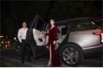 Hoa hậu Phí Thùy Linh được chồng đưa tới sự kiện bằng xe sang