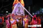 Tận thấy lễ rước kiệu Nữ tướng Lê Chân hoành tráng trong đêm khai mạc