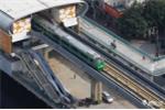 Anh: Tau duong sat tren cao Cat Linh - Ha Dong chay thu tren pho Ha Noi hinh anh 6