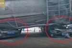 Clip: Xe bồn lật đè nát 2 ô tô con, 9 người chết thảm
