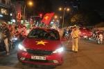 Cảnh sát giao thông bố trí dày đặc bảo vệ U23 Việt Nam đến sân Thống Nhất