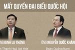 Infographic: Quốc hội khoá 14 giảm 9 đại biểu sau nửa nhiệm kỳ