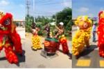 Video: Tài xế múa lân diễu hành qua BOT Sóc Trăng