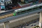 Ảnh: Tàu đường sắt trên cao Cát Linh - Hà Đông chạy thử trên phố Hà Nội