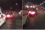 Clip ô tô con chắn đường xe cứu thương trên cầu vượt gây tranh cãi