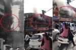 Clip: Cháy lớn ở ngã tư Chùa Bộc - Hà Nội, lính cứu hỏa căng mình dập lửa