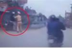Clip: CSGT tóm gọn người vi phạm cố tình bỏ chạy
