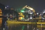 Video: 200 công nhân làm việc xuyên đêm nạo vét Hồ Gươm