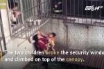 Video: 2 em bé mưu trí thoát khỏi đám cháy chung cư ngoạn mục
