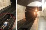 Clip: 2 thiếu niên liều chết nằm dưới đường ray cho tàu chạy qua