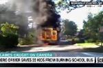 'Nữ anh hùng' cứu sống 20 học sinh tiểu học ngoạn mục từ xe buýt bốc cháy