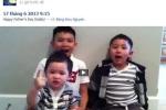 Vợ cũ Bằng Kiều khoe clip 3 con trai hát mừng bố