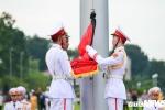 Ảnh: Lễ thượng cờ rủ Quốc tang Chủ tịch nước Trần Đại Quang