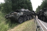 Thiết giáp triệu USD của Mỹ đâm va hàng loạt tại Litva, nhiều binh sỹ bị thương