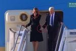Ngôn ngữ cơ thể lạ lùng của vợ chồng Tổng thống Trump khiến dân mạng xôn xao