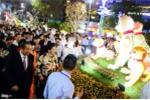 Ảnh: Đường hoa Nguyễn Huệ ken cứng người trong đêm khai mạc