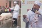 Trường mầm non mổ lợn trước mặt học sinh để... dạy học thực tế