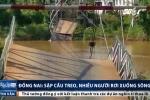 Clip: Hiện trường sập cầu treo, nhiều người và xe rơi xuống sông ở Đồng Nai
