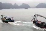 Tạm giữ 2 tàu ngư dân rượt đuổi nhau trên vịnh Hạ Long