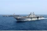 Thủy thủ Mỹ mất tích khi tàu sân bay diễn tập tấn công ở cửa ngõ của Iran