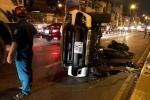 Ôtô bán tải lao qua làn đường ngược lại, húc người đàn ông văng xuống cầu ở Sài Gòn