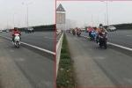 Đoàn xe máy nối đuôi đi vào đường cao tốc Pháp Vân – Cầu Giẽ: CSGT nói gì?