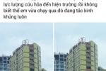 Thuc hu thong tin toa nha cao tang tren pho Ha Noi bi nghieng sau du chan dong dat hinh anh 3