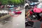Clip: Vừa thuê siêu xe Ferrari, nữ tài xế gây tai nạn, phá nát xe trong 1 nốt nhạc