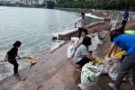 Video: Dân vớt hàng tạ cá chết ở Hồ Tây về ủ làm phân bón