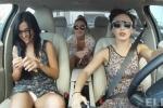 Mỹ nữ 'thác loạn' trong xe hơi