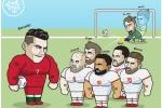 Ronaldo cứ sút là vào, De Gea khốn khổ bị ví như 'thảm họa' Karius