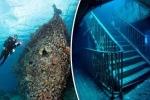 Ngỡ ngàng hình ảnh xác tàu, máy bay, xe tăng nguyên vẹn dưới đáy đại dương
