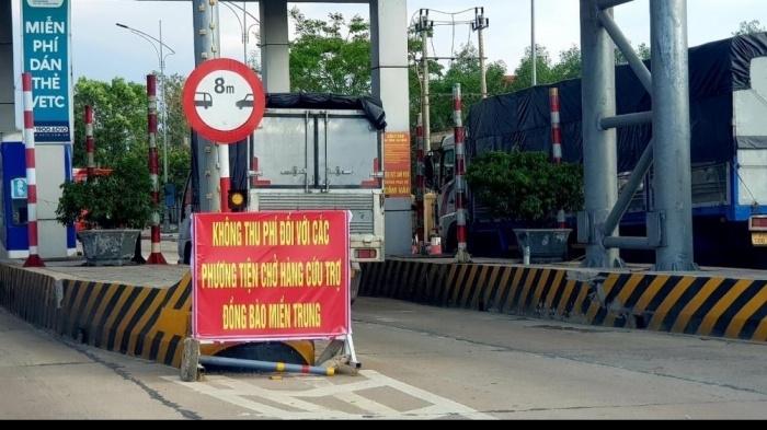Tạm dừng thu phí trạm BOT qua Quảng Trị để cứu trợ bão lũ - 1